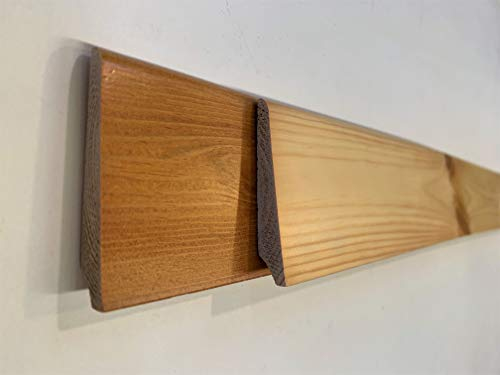 Battiscopa in legno massello di Abete mm. 70x13 confezione pz. 8 aste da cm. 300 totale mt. 24,00. made in Italy (Abete tinta miele mm.70x13 pz.10 mt.24,00)