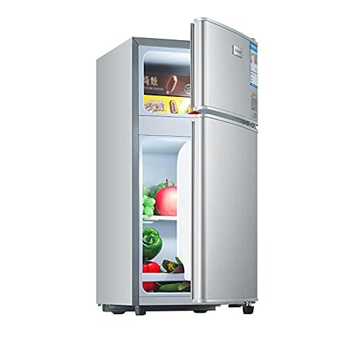 QINGZHUO Mini Nevera,refrigerador Independiente con Congelador De 1/2 Puerta [Clase Energética A +] Incluye Estantes Extraíbles,Ahorro De Energía Y Funcionamiento Silencioso.