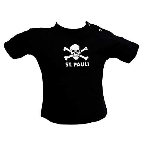 FC St. Pauli Baby Shirt Totenkopf schwarz 18 Monate