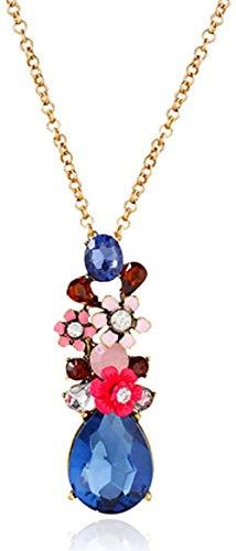 NC110 Exquisito Collar con Colgante de Cristal de Moda único para Mujer YUAHJIGE