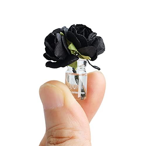 osyare 1:12 Mini Dollhouse Florero Micro Paisaje Colorido Flor Botella de Vidrio Decoración Miniatura para Foto Props D