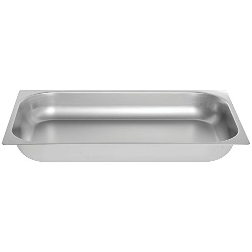 HUBERT Steam Table Pan Hotel Pan Full Size Shallow Stainless Steel - 2 1/2 D
