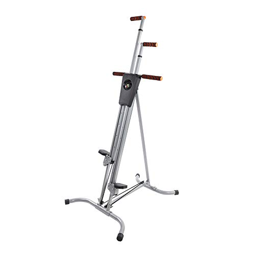 Yosooo Home Climber Machine, Adjustable Folding Heavy Duty Steel Vertical Full Body Workout Fitness Climber Climbing Cardio Exercise Machine Home Gym Stepper