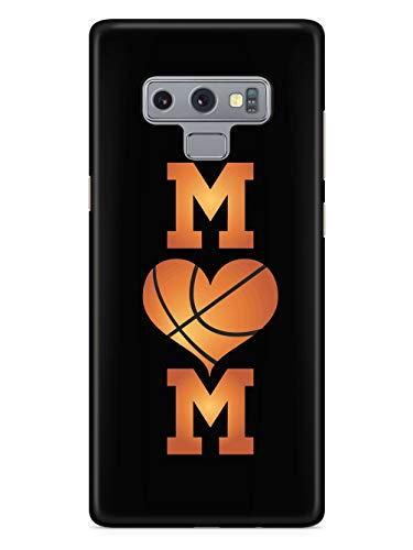 Inspired Cases - 3D Textured Galaxy Note 9 Case - Rubber Bumper Cover - Protective Phone Case for Samsung Galaxy Note 9 - Basketball Mom Heart Basketball