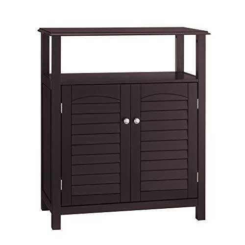 Elegant Home Fashions Danbury Freestanding Cabinet with 2 Doors-Espresso