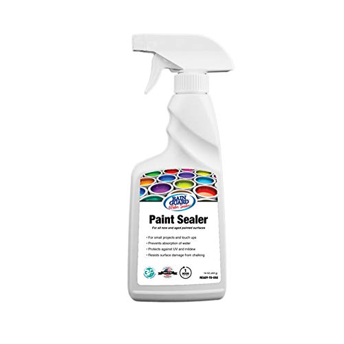 Rain Guard Water Sealers SP-9006 Paint Sealer Ready to Use - Water Repellent for Painted Wood, Brick, Concrete, Stucco, and Masonry - Covers up to 18 Sq. Ft, 16 oz Spray Bottle, Clear