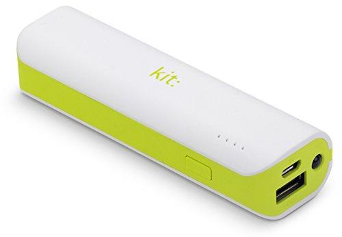 Kit Universal 2000 mAh Powerbank Externer Handy Akku Ladegerät mit LED Taschenlampe Kompatibel mit Smartphones und MP3 Geräten, einschlieߟlich iPhone 4/4S/5/5S/5C/6/6 Plus/6S/6S Plus, Samsung Galaxy S2/S3/S4/S5/S6/S6 Edge/S6 Edge+, Galaxy Note 2/3, Sony Xperia Z1/Z2, HTC One/One M8 - Weiߟ