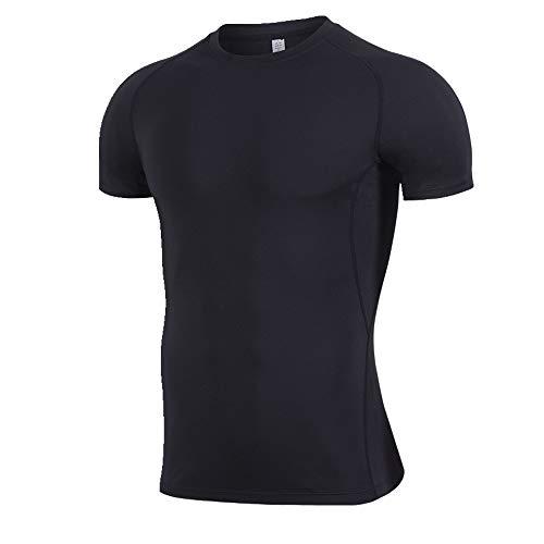 Fitness Suit Herren T-Shirt Running Kurzarm Gr. M, Schwarz