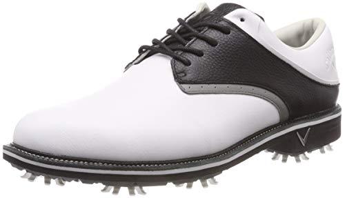 Callaway Apex Tour Zapatillas de Golf, Hombre, Blanco (White/Black), 40.5 EU