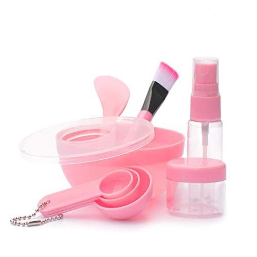 Ensemble de bol de mélange de visage,9 en 1 kit d'outils de mélange de visage bricolage cosmétique avec brosse en silicone bol bâton spatule bouteille à bulle jauges