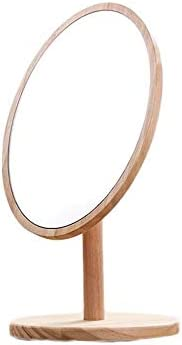 Bright Max 85% OFF Mirrors Desktop Makeup Wooden Oval Mirror Beauty Outlet sale feature