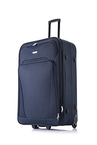 Flymax 55x35x20 55x40x20 Cabin Suitcase Luggage Hand Carry on Case Flight Bag Suitcase Travel Fits Fits Easyjet, Ryanair, Flybe, British Airways & Jet 2