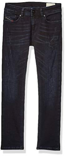 Diesel Boys' Big Classic Skinny Jean, Sleenker Treated Blue Black Denim, 16