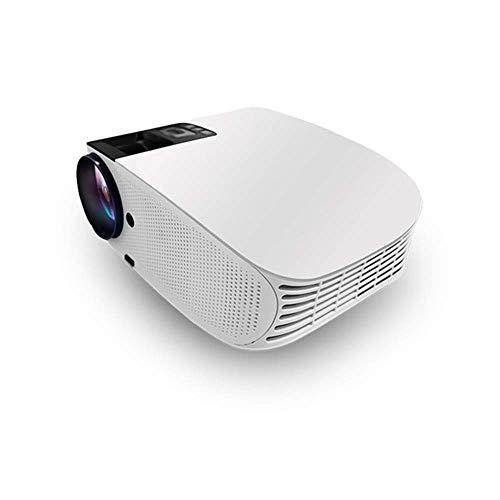 Proyector inalámbrico, Soporte 1080p, 1280768, proyector de Cine en casa HD, tamaño del proyector 200, Vida útil de la lámpara 30.000 Horas, Compatible con hdmi, USB, SD, vga