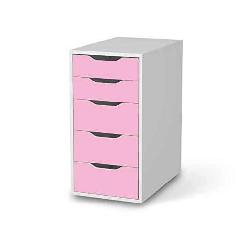creatisto Möbelfolie passend für IKEA Alex 5 Schubladen I Möbelsticker - Möbel-Tattoo Sticker Aufkleber I Deko Ideen Wohnung für Schlafzimmer, Wohnzimmer - Design: Pink Light