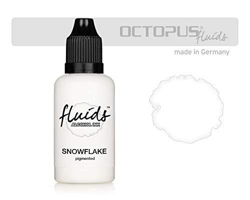 30ml Fluids Alcohol Ink SNOWFLAKE, Alkoholtinte für Fluid Art und Resin, weiß, white, blanco