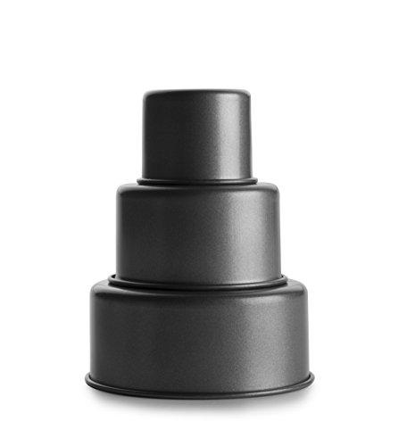 IBILI Mini Tartas Tres Pisos, 6 x 4.3-8.3 x 4.5-10 cm