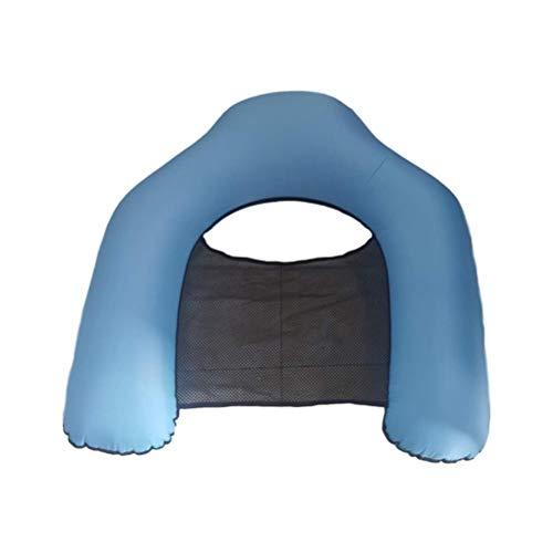 Tixiyu Tumbona inflable flotante, flotadores de piscina, hamaca de agua con bolsa de almacenamiento, no requiere bomba, adecuado para adultos y niños sofá flotante (azul)