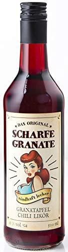 Scharfe Granate - Das Original - Granatapfel-Chili-Likör - Mit 18% Alkohol (500 ml)