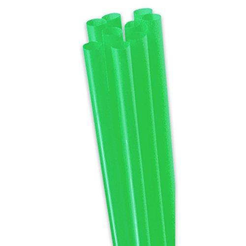 pack2go 200 Jumbo-Trinkhalme - Dicke Strohhalme - 25cm lang, Ø8mm - Plastik Strohhalme für Cocktails, Smoothies, Ice Coffee (grün)