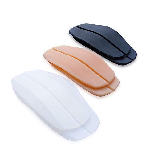 Fasionato Almohadillas para correas de sujetador Paquete de 6 almohadillas de hombro antideslizantes de silicona para mujeres Viene con un clip para correa