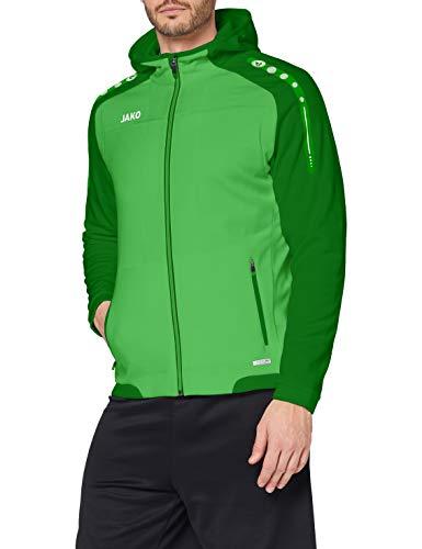 JAKO Herren Kapuzenjacke Champ, Soft Green/sportgrün, 38
