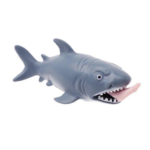 SimpleLife Squeeze Toy Shark, lustiger Spielzeug-Stressabbau-Ball für Kinder, Neuheitsgeschenk, 5 cm x 11,5 cm