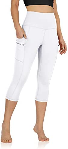 ODODOS Women s High Waisted 21 Inseam Dual Pockets Workout Capris Yoga Running Gym Athletic product image
