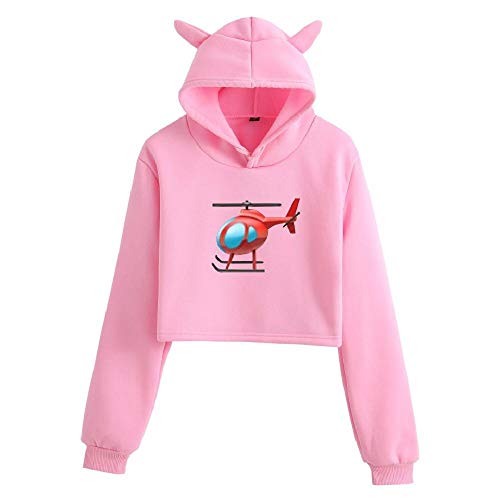 NOBRAND Hot Cartoon Girl with Cat Ears and Umbilical Sexy Sudadera con capucha