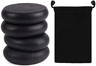 Round Massage Stones Kit Hot Basalt Warmer Rock Great for Spas, Massage Therapy, Relaxation, and more, 4 Piece
