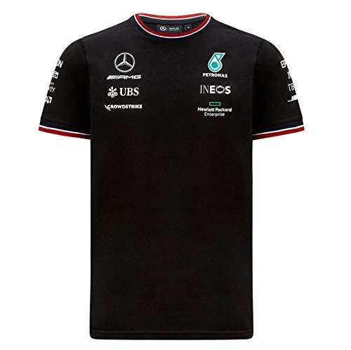 2021 メルセデス AMG ペトロナス F1 Team オフィシャル レプリカ Tシャツ (M身幅51cm着丈67cm, ブラック)