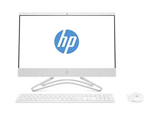 """HP All-in-One 22-c0026ns - Ordenador de sobremesa 21.5"""" FullHD (AMD A9-9425, 8 GB RAM, 256 GB SSD, AMD Radeon R5, Sin sistema operativo), con teclado QWERTY español y ratón, color blanco"""