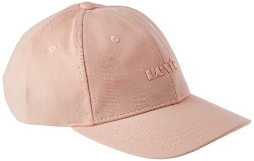 Levi's Women's Tonal TPU Printed Logo Baseball Cap Gorra de bisbol, Rosa, Talla única para Mujer