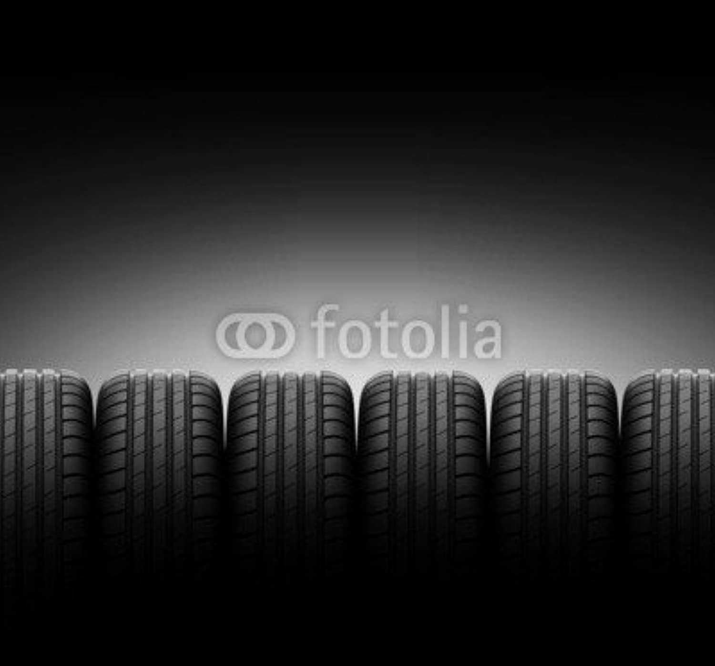 AluminiumDibond image 60 x 60 cm   vehicle tire , image on a AluminiumDibond