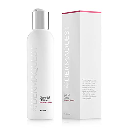 DermaQuest Advanced Therapy Foaming Glyco Gel Cleanser with 15% Glycolic Acid & Lactic Acid - Deep Cleansing Face Wash for Oily Skin and Papular Acne, 6 oz.