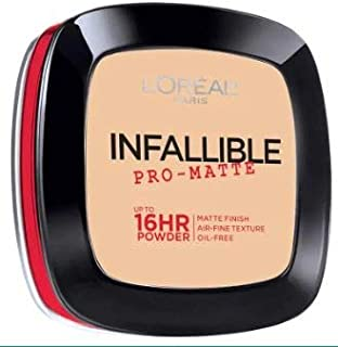 L'OREAL Infallible Pro-Matte Powder Pocelain 30g -Our 1st 16H mattifying Powder Foundation Inspired by Japanese Two-Way Cake which Provides high Coverage
