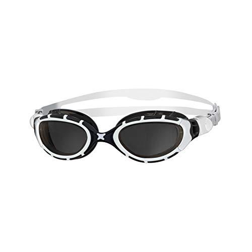 Zoggs Schwimmbrille Predator Flex, white/black/smoke, one size