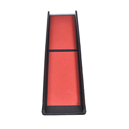 CosHall Hunderampe Dog Stairs Auto Faltbar für kleine/große Hunde, Folding Slide Stairs, Schwarz/Rot