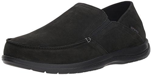 crocs Herren Convertible Leather Slip-On Santa Cruz, umkehrbar, Leder, zum Reinschlüpfen,...