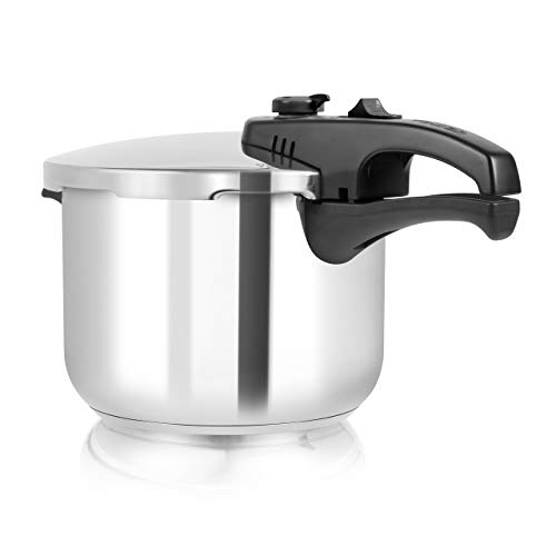 Tower Pressure Cooker with Steamer Basket, Stainless Steel, 6 L