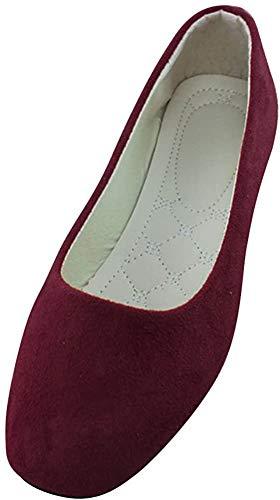 MISSMAO Damenschuhe Ballerinas Klassische Ballerinas Flache Schuhe Schnüren Klassische Ballerinas Komfort und Stil,Weinrot,EU 39