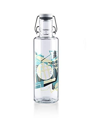soulbottle 0,6l Trinkflasche aus Glas • verschiedene Motive, Made in Germany, vegan, plastikfrei, BPA-frei, Glastrinkflasche, Glasflasche...