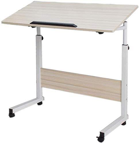 Mesa plegable Levantamiento móvil Mesa móvil Aprendizaje de mesa de altura ajustable Tipo de inclinación,Wood color