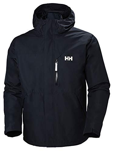 Helly Hansen Men Squamish 3-in-1 Zip Out Insulator and Waterproof Shell Jacket - Navy, Medium