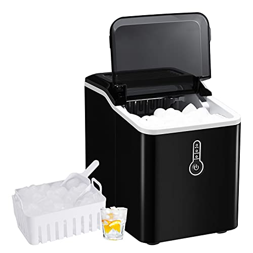 KINGSWERE Ice Maker Machine for Countertop, 26 lbs Bullet Ice Cube in...