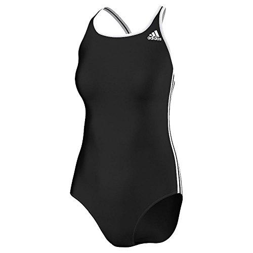adidas Damen Badeanzug Infinitex 3-Streifen, black/white, 42, S22895