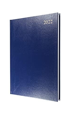 Collins Essential Agenda journalier 2022 Bleu Format A4