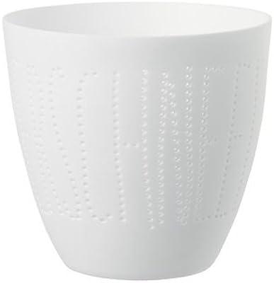 Blanc 11,1 x 7 x 7 cm La Carterie 76009060 Photophore /à Bougie Chauffe Plat Porcelaine