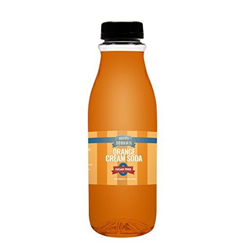 SUGAR FREE Diet Orange Cream Soda Sparkling Water Soda Maker Flavor | 16oz (Pint) Bottle | Sodamix