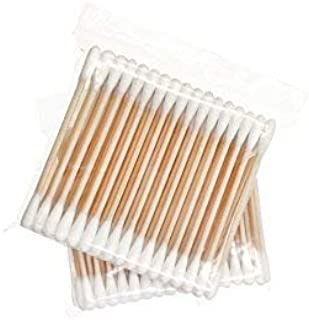 Wooden Cotton Swabs 400 pcs / Ultrathin Travel Cotton Buds - 8 Packs of 50pcs